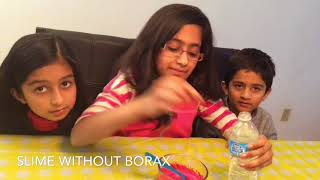 How To Make A Slime With Glue And Soap/ How To Make Slime Without Borax.