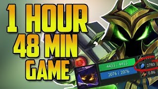 Silver 1 HOUR 48 MIN GAME (Veigar 2700+ AP)- Longest Game on EUW Server 2017 (Solo Queue Ranked)