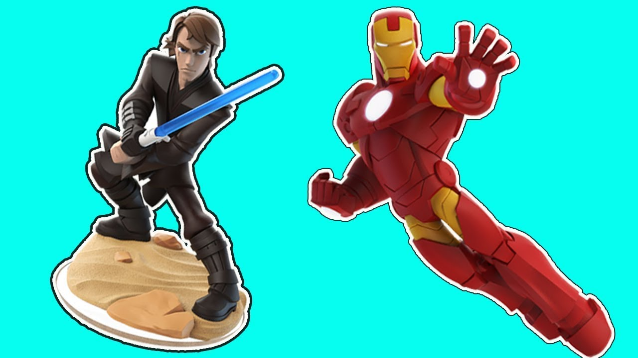 Iron Man vs Anakin skywalker star wars gameplay - Superhero disney infinity funny moments