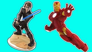 Iron Man vs Anakin skywalker star wars gameplay - Superhero disney infinity funny moments thumbnail