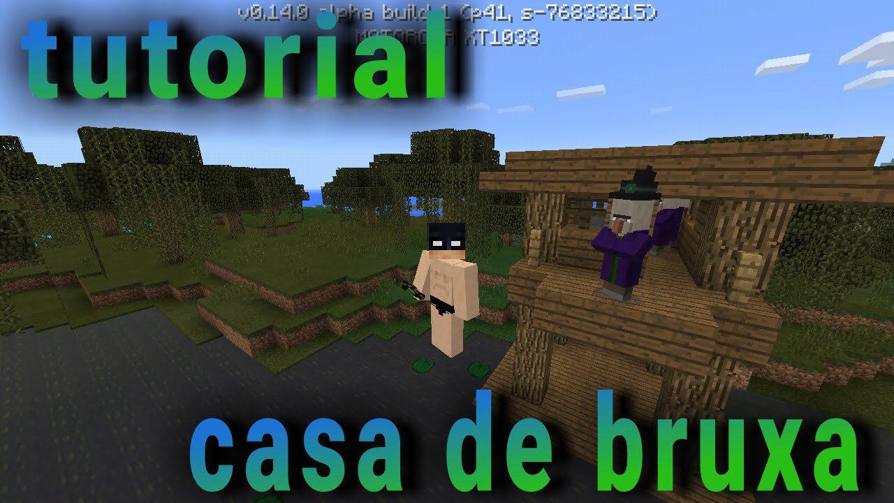 Como fazer uma casa de bruxa no minecraft pe youtube for Casa moderna para minecraft pe 0 14 0