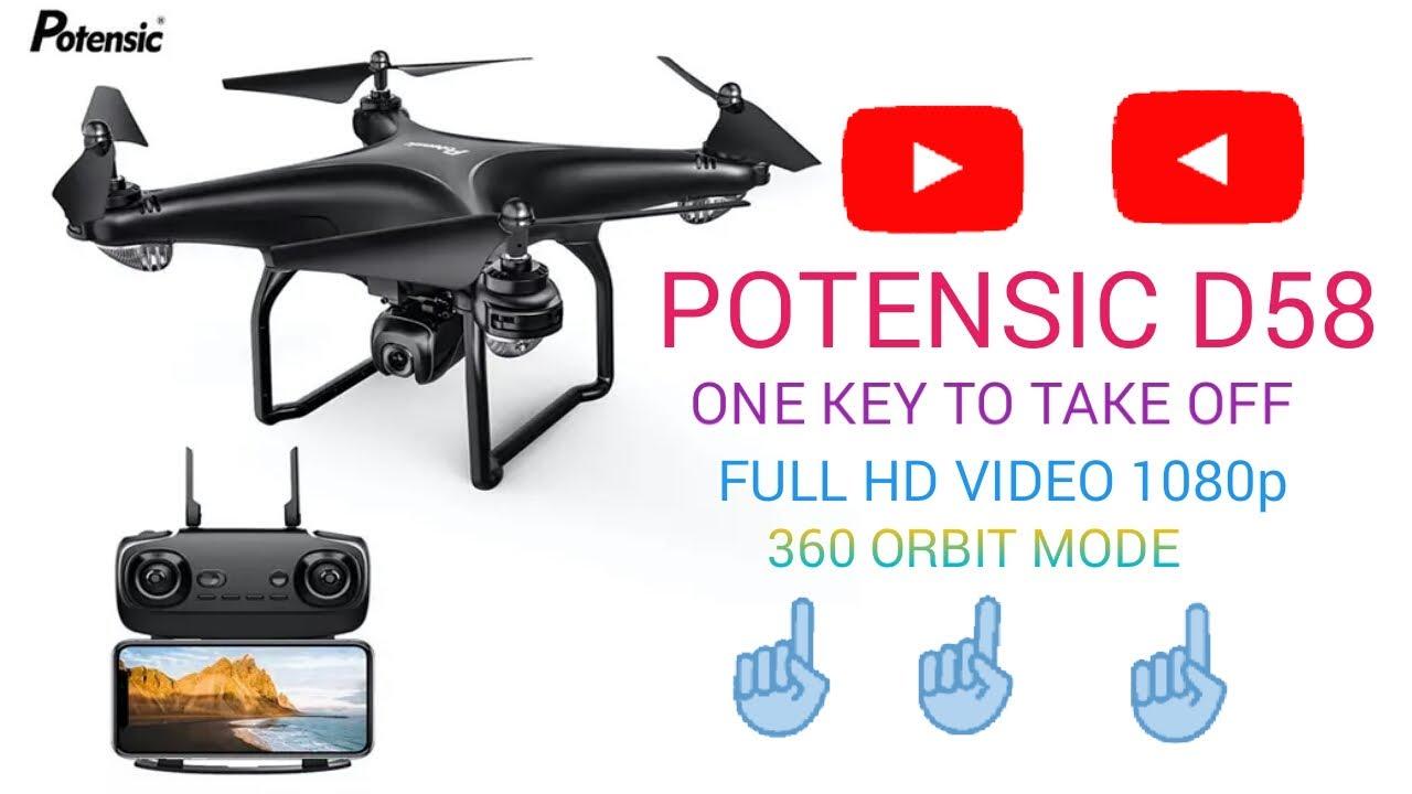 Download Potensic D58 gps drone review D58 GPS Follow Me RTH 1080p RC Drone FLIGHT TEST Review