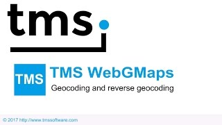 Geocoding and reverse geocoding of addresses and photos with TMS WebGMaps - German Audio