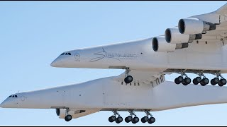 Stratolaunch: World's Largest Airplane First Flight April 13, 2019