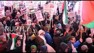 USA: Thousands hit Times Square to vent anger at Jerusalem decision