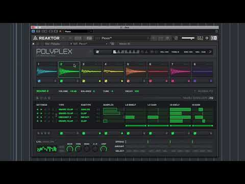 How to:  Making techno using Polyplex   Native Instruments