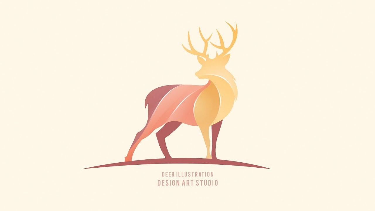 Deer Logo Design – Adobe Illustrator cc 2019