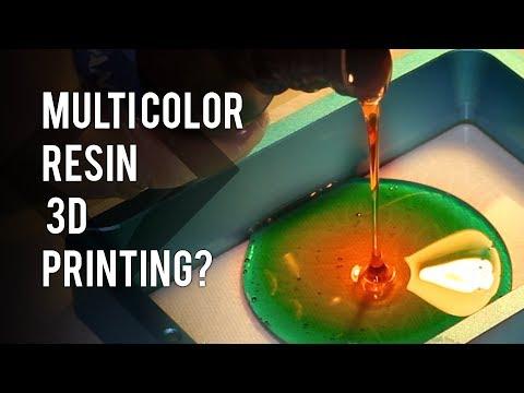 Multi Color 3D Resin Printing