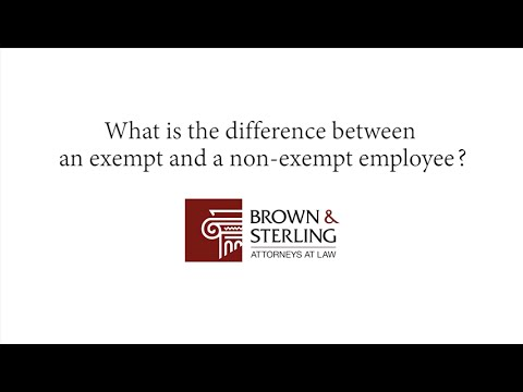 What is the difference between an exempt and a non-exempt employee ...