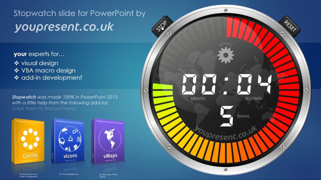 Free PowerPoint Stopwatch | YOUpresent