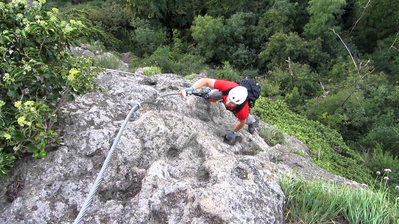 Klettersteig Riegersburg : Leopold klettersteig riegersburg schlüsselstelle c youtube