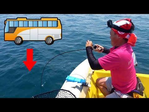 A surprising bus under the water!