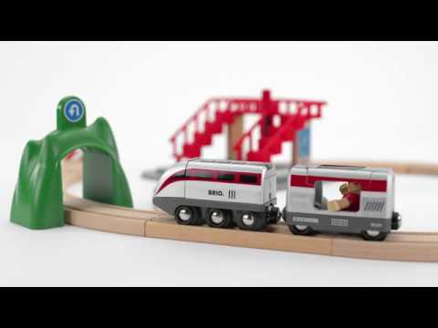 BRIO World - 33873 Smart Tech Engine Set with Action Tunnels