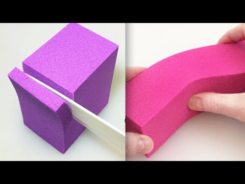 Very Satisfying Video Compilation 63 Kinetic Sand Cutting ASMR