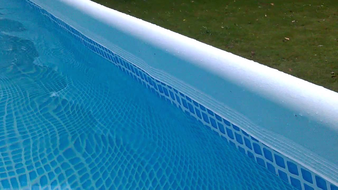 Bestway Pool Abdeckung Oval Intex Ultra Frame Pool Seitenwand Krumm Schief 2