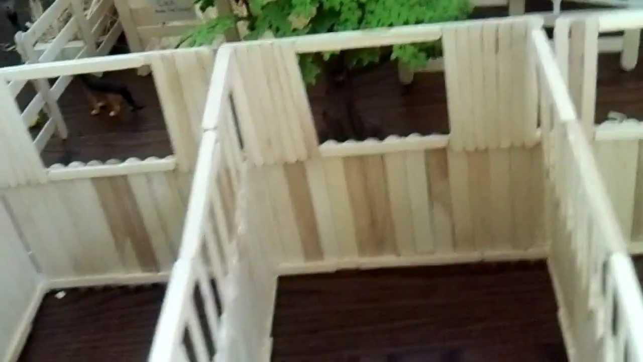 My Popsicle Stick Breyer Barn - YouTube