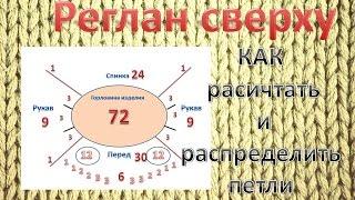 Как расчитать и распределить петли для РЕГЛАНА сверху!)