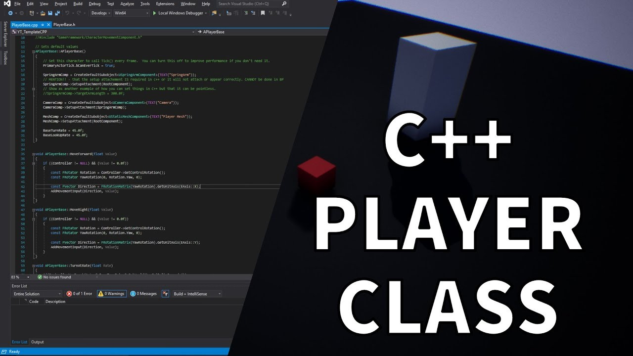 C++ Character Class Creation UE4 / Unreal Engine 4 C++