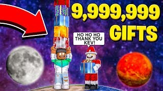 I MADE 9,999,999 GIFTS FOR SANTA CLAUS.. (Roblox)