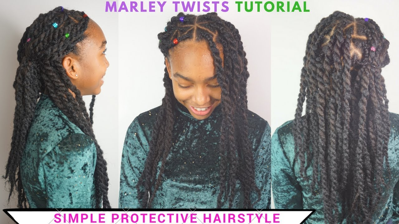 Easy Marley Twists Tutorial Protective Hairstyle On Kids Hair