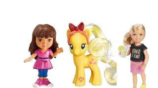 Dora and Friends Into the City Magic Spell Turns Dora Giant and Alana Helps Out Toy Review