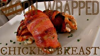 Summer Sizzle  The Burn:  Bacon Wrapped Cream Cheese Stuffed Chicken Breast