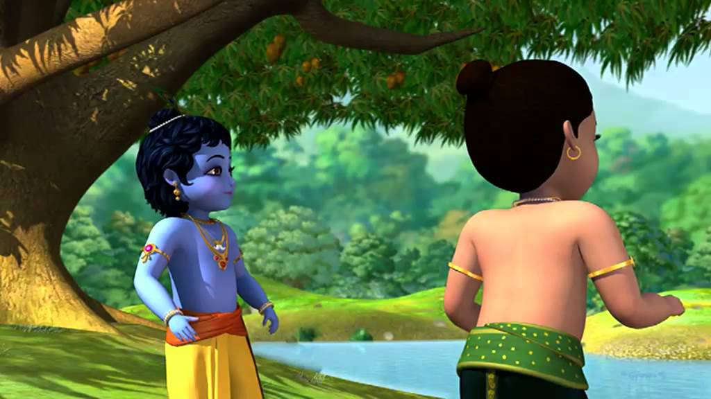 Free Hd Cute Baby Wallpaper Kiran Flute Little Krishna Krishna With Friends Youtube