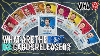 NHL 18 HUT | What are the best ICE cards released? (Biggest, Budget, Fastest, and More!)