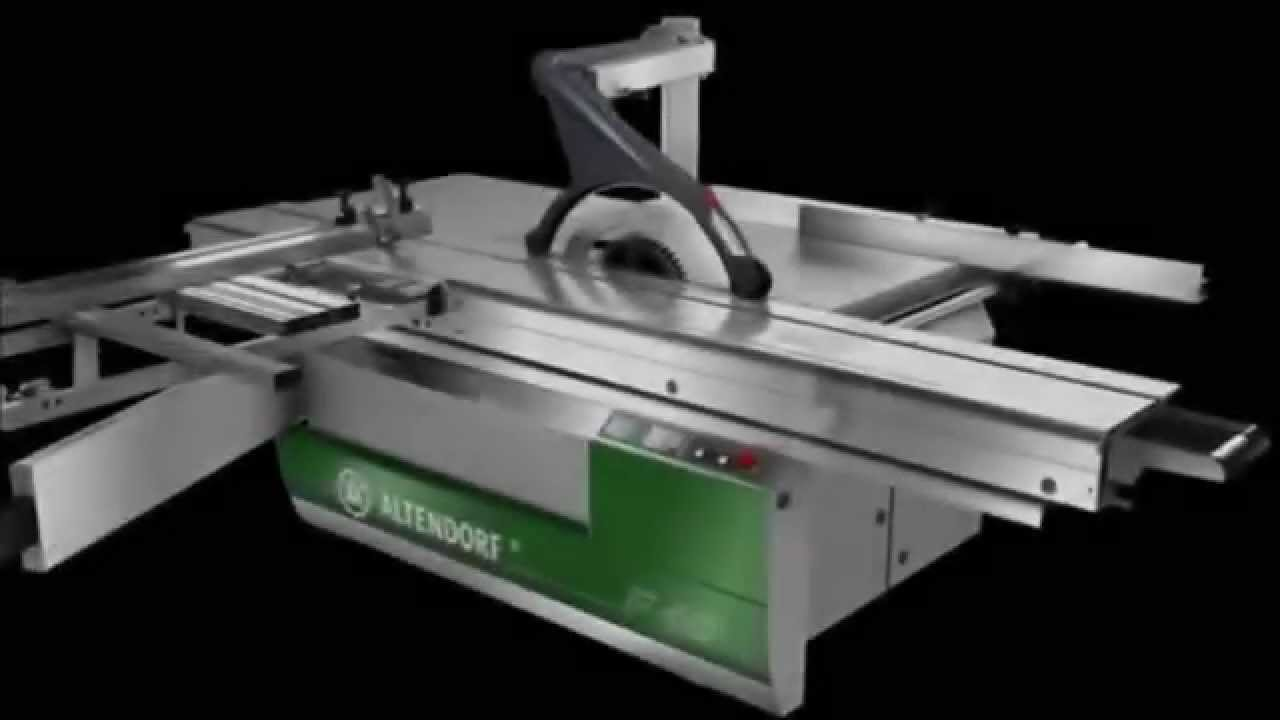 Altendorf F45 Sliding Table Saw Rip Fence System Youtube