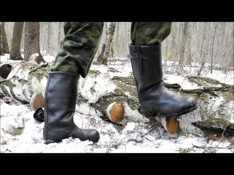 Меховые яловые сапоги новенькие \ Yuft, fur, new USSR boots - YouTube