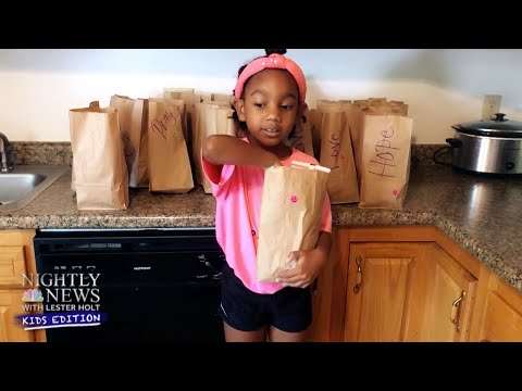 Inspiring Kids: First Grader Donates Care Packages To Homeless Shelters | Nightly News: Kids Edition