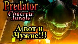 Прохождение Хищник Бетонные Джунгли (Predator Concrete Jungle) - часть 12 - А вот и Чужие!!!
