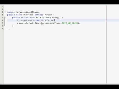 Java GUI Tutorial