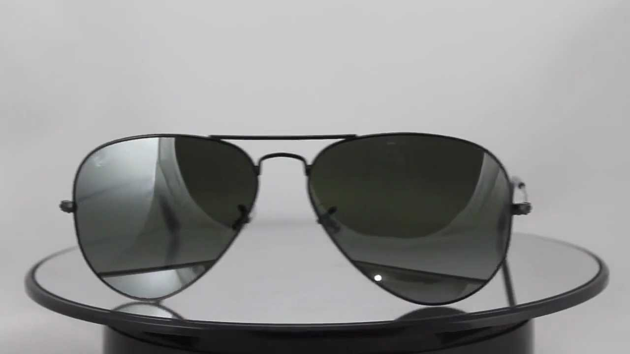 5ccf373f2f884c Ray-Ban RB3025 002 37 Aviator Large Metal - YouTube
