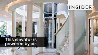 The Vacuum Elevator uses air to go up and down