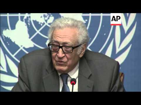 "Brahimi says Syrian talks moving forward in ""half steps"" SNC comment"