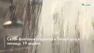 Смотреть видео В Санкт-Петербурге стартует сезон фонтанов 2019 онлайн