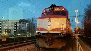 Awesome Horn Blasts from Amtrak Heritage Units and MBTA Trains at Night!