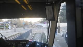 [Tram Cab Ride] Lyon Rhônexpress / Gare Part-Dieu - Villette ➡ Aéroport de Lyon-Saint-Exupéry