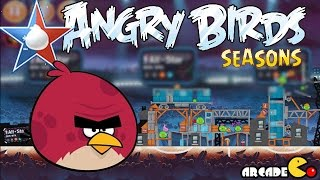 Angry Birds Seasons: NBA HAM Dunk 4-4 Walkthrough 3 Star