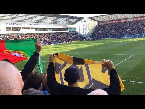 Wolves fans at Preston away (17/2/18)