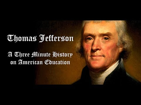 the views of thomas jefferson towards universal education
