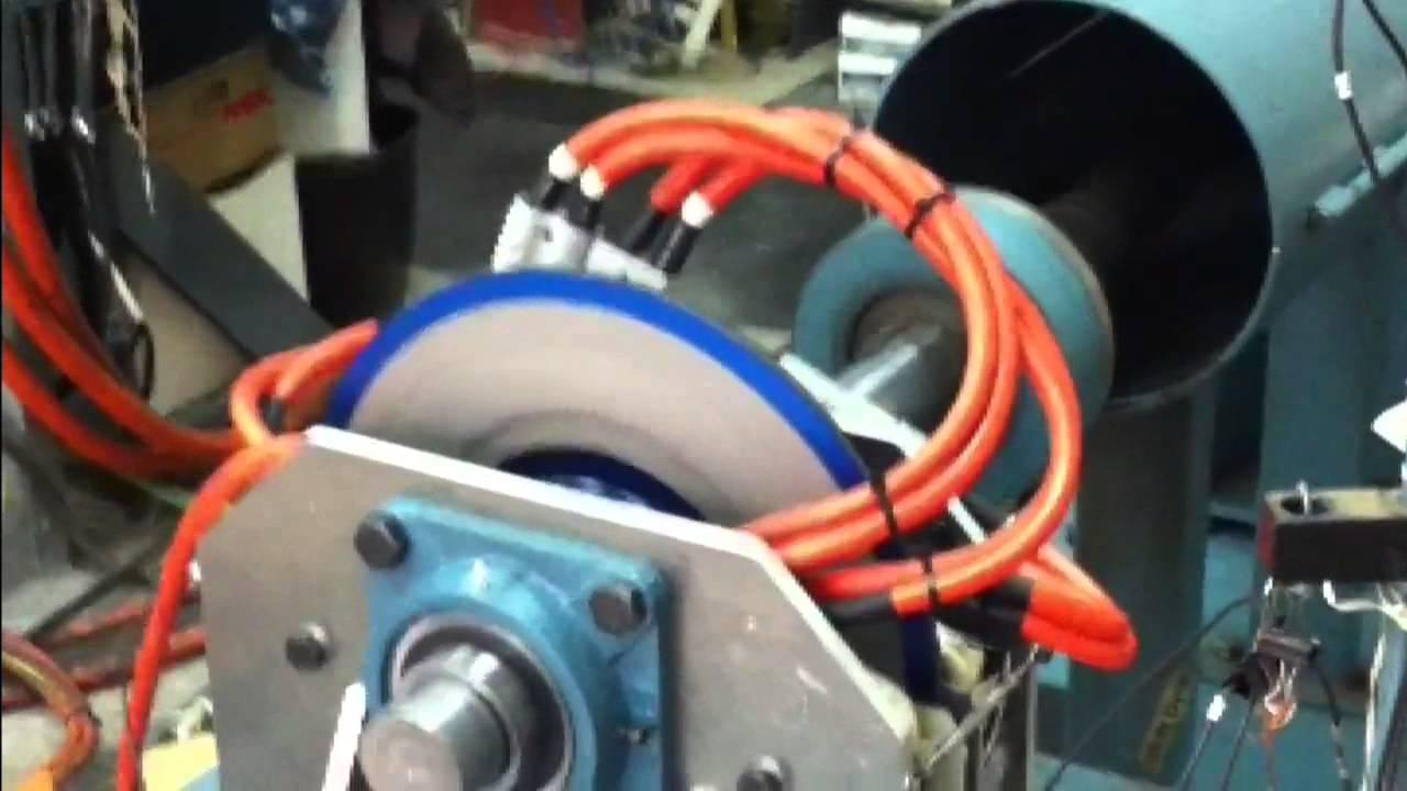 Ac Induction Ev Wheel Motor Dyno Test 1 250 Nm Axial Flux
