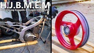 Hvordan jeg byggede min egen motorcykel DEL 4 - Cyklen splittes ad og fælge Lakeres !
