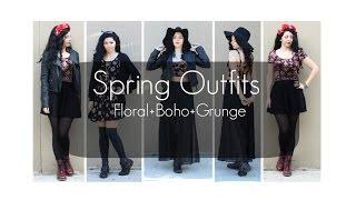 Spring Outfits : Floral Boho Grunge!