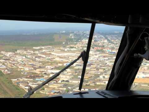 Venezolana Cockpit view 737-291 YV502T landing in PZO