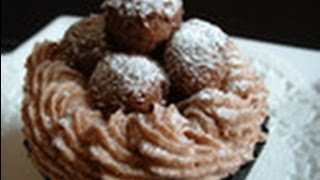 Making Chocolate Truffle Cupcakes