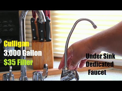 How To Install a Under The Sink Water Filter With Faucet Culligan EZ ...