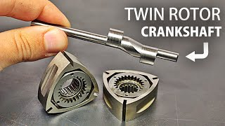 Making a TWIN RC Wankel Rotary Engine - The Crankshaft (Eccentric Shaft)