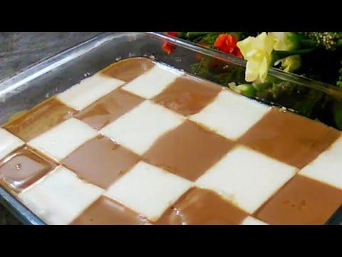 Coffee Coconut Milk Pudding /yummy Pudding Recipe/3 In 1 Recipe/checkerboard Coffe Coconut Pudding